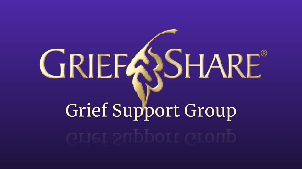 GriefShare Grief Support Group